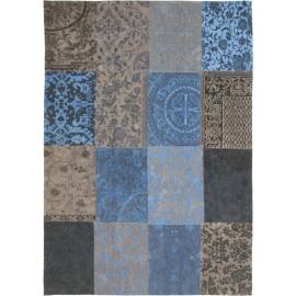 Vintage Patchwork Blauw/Grijs 8107
