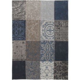 Vintage Patchwork Blauw Denim 8108